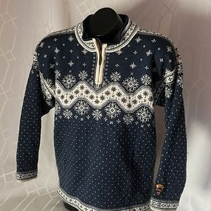 Dale of Norway navy pure wool Nordic Sweater XS